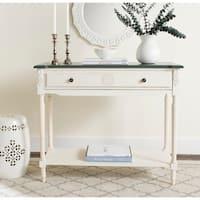 Safavieh Fairford 1-shelf White Console Table