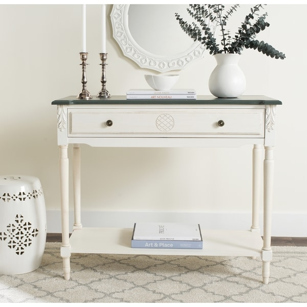 Safavieh Fairford 1-shelf White Console Table