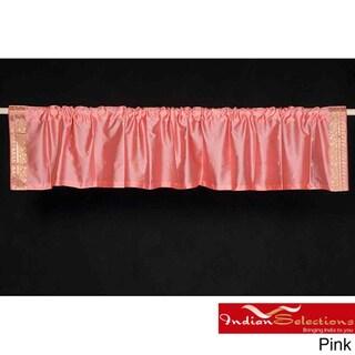 Sari Fabric Decorative Valances , Handmade in India Pack of 2