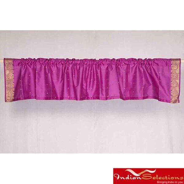 Violet Red Sari Fabric Decorative Valances (India) (Pack of 2)