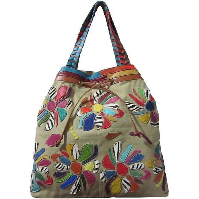 Amerileather Sienna Leather Tote Bag