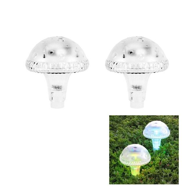 Pc Color Changing Solar Lights Set: Mushroom Color Changing Solar Light (Set Of 4)