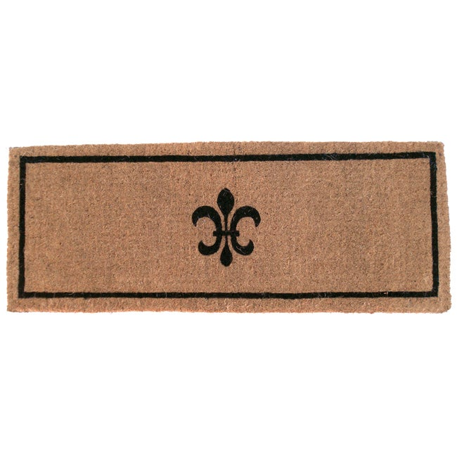 black fleur extra thick hand woven coir doormat  18 u0026quot  x 47 u0026quot   - free shipping today