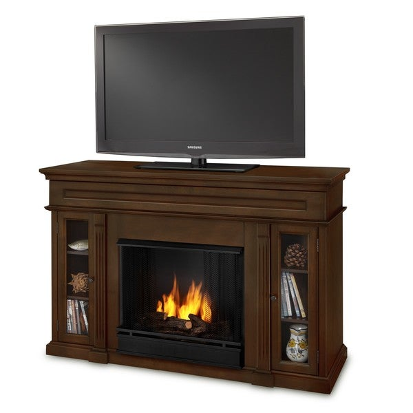 The Lannon Ventless Real-Flame Gel-Fuel Fireplace