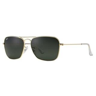 Ray-Ban Caravan RB3136 Unisex Gold Frame Green Classic Lens Sunglasses - Gold/Green