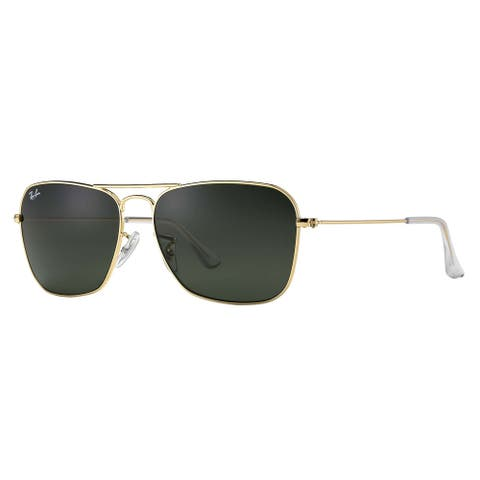 Ray-Ban Caravan RB3136 Unisex Gold Frame Green Classic Lens Sunglasses