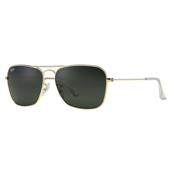 92026bb2be Shop Ray-Ban Caravan RB3136 Unisex Gold Frame Green Classic Lens Sunglasses  - Free Shipping Today - Overstock - 6385607