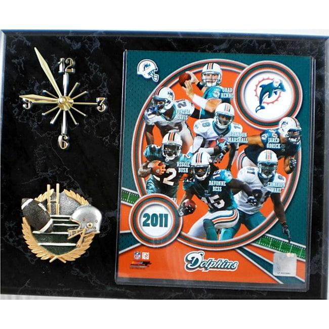 Miami Dolphins Collectible Photo Clock