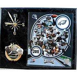 Philadelphia Eagles Collectible Photo Clock Plaque