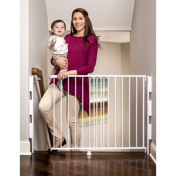 Regalo 2 In 1 Top Of Stairs Safety Gate Overstock 6385667