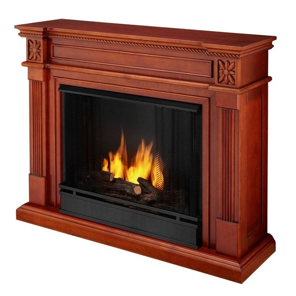 'Real Flame' Ventless Dark Mahogany Gel Fireplace