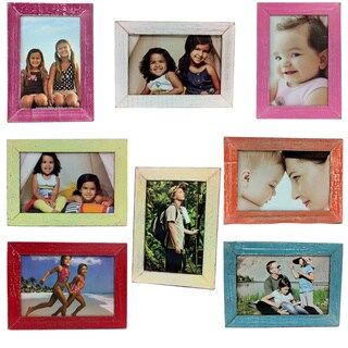 Handmade Recycled Boat Wood 4 x 6 Desk Photo Frame (Thailand)