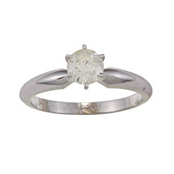 Victoria Kay 14k White Gold 5/8ct TDW Diamond Solitaire Engagement Ring (J-K, I1-I2)