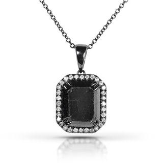 Annello by Kobelli 14k Gold 4 7/8ct TDW Certified Black and White Diamond Pendant (J-K, I