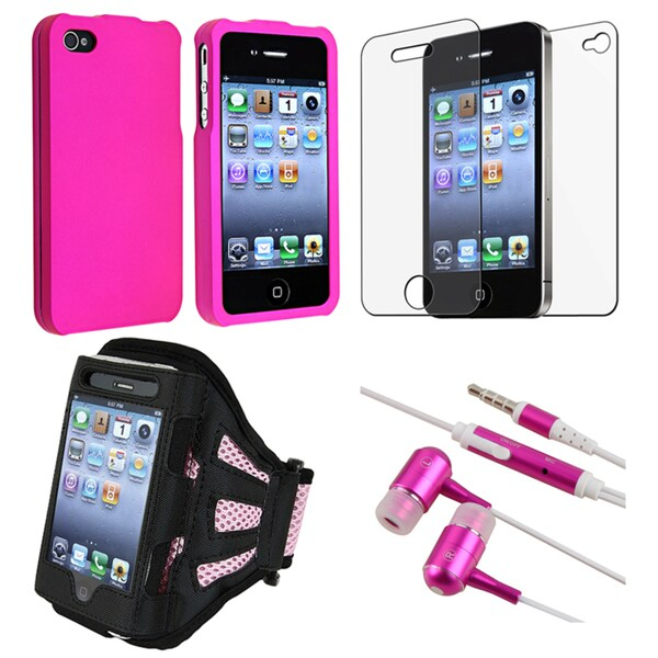 Pink Case/ Armband/ Headset/ Screen Protector for Apple iPhone 4S