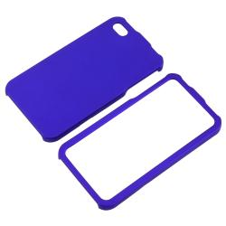 Dark Blue Snap-on Rubber Coated Case for APP iPhone 4/ 4S - Thumbnail 2