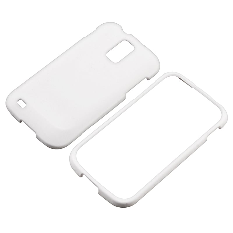 INSTEN White Rubber Coated Phone Case Cover for Samsung Galaxy S II T989 T-Mobile