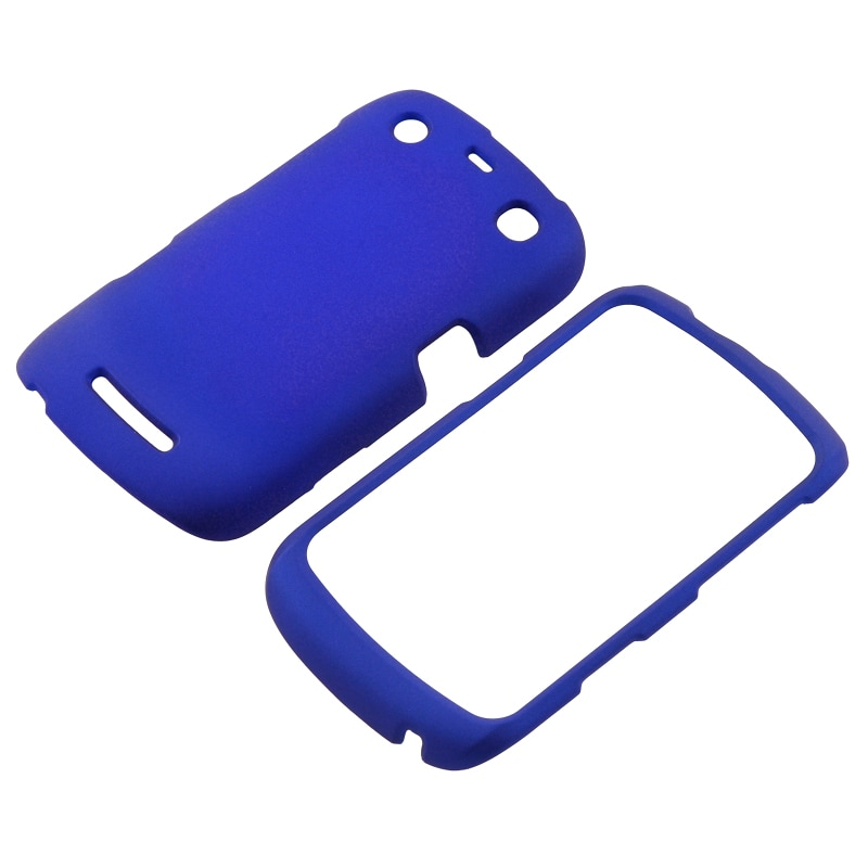 INSTEN Blue Snap-on Rubber Coated Phone Case Cover for BlackBerry Curve 9350/ 9360/ 9370