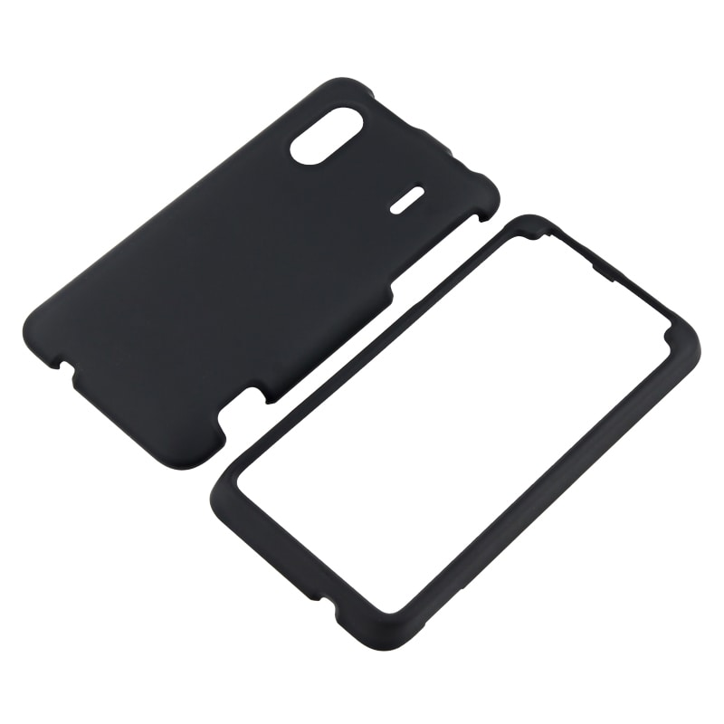 Black Snap-on Rubber Coated Case for HTC EVO Design 4G