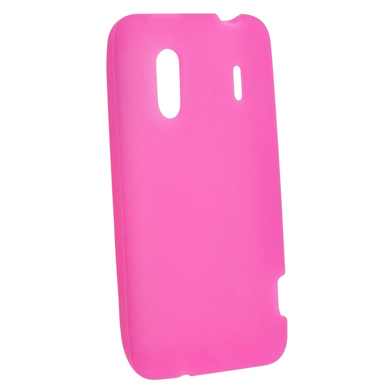 INSTEN Hot Pink Soft Silicone Skin Phone Case Cover for HTC EVO Design 4G
