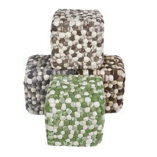 """Artist's Loom Felted Wool Poufs (16""""x16""""x16"""")"""