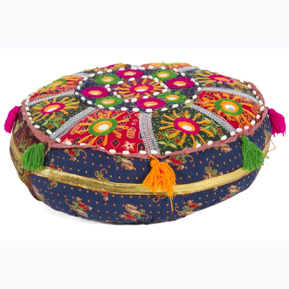 Artist's Loom Traditional Indian Poufs (Set of 3)