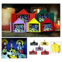 Handmade Set of 5 Ceramic 'Retablos' Ornaments (Peru)
