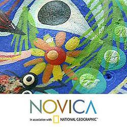 Handmade Set of 6 Ceramic 'Lord of the Sun' Ornaments (Guatemala) - Thumbnail 2