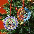 Handmade Set of 6 Ceramic 'Lord of the Sun' Ornaments (Guatemala)