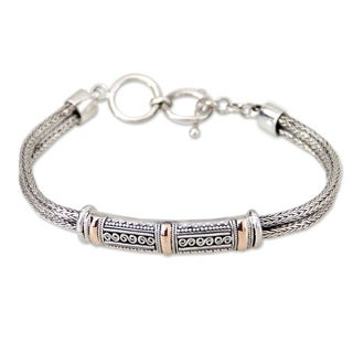 Handmade Gold Accent Sterling Silver 'Wishes' Bracelet (Indonesia)