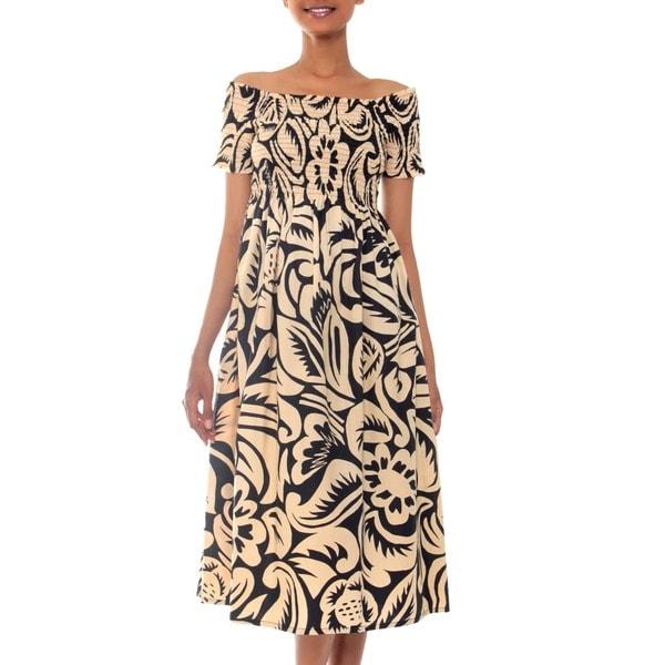 d02ac1bd1989 Shop Handmade Cotton Batik  Bali Shadows  Dress (Indonesia) - Free ...