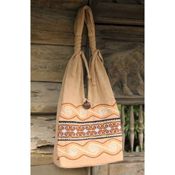 Cotton 'Lanna Greatness' Medium Sling Bag (Thailand)