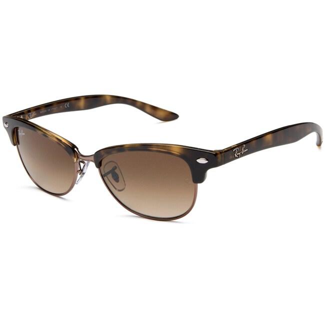 Ray-Ban Unisex Clubmaster Havana Plastic Sunglasses