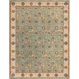 Dorchester Steel/ Beige Powerloomed Rug (12' x 15')