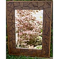 Reclaimed Large Teak Wood Jigsaw Mirror (Thailand)