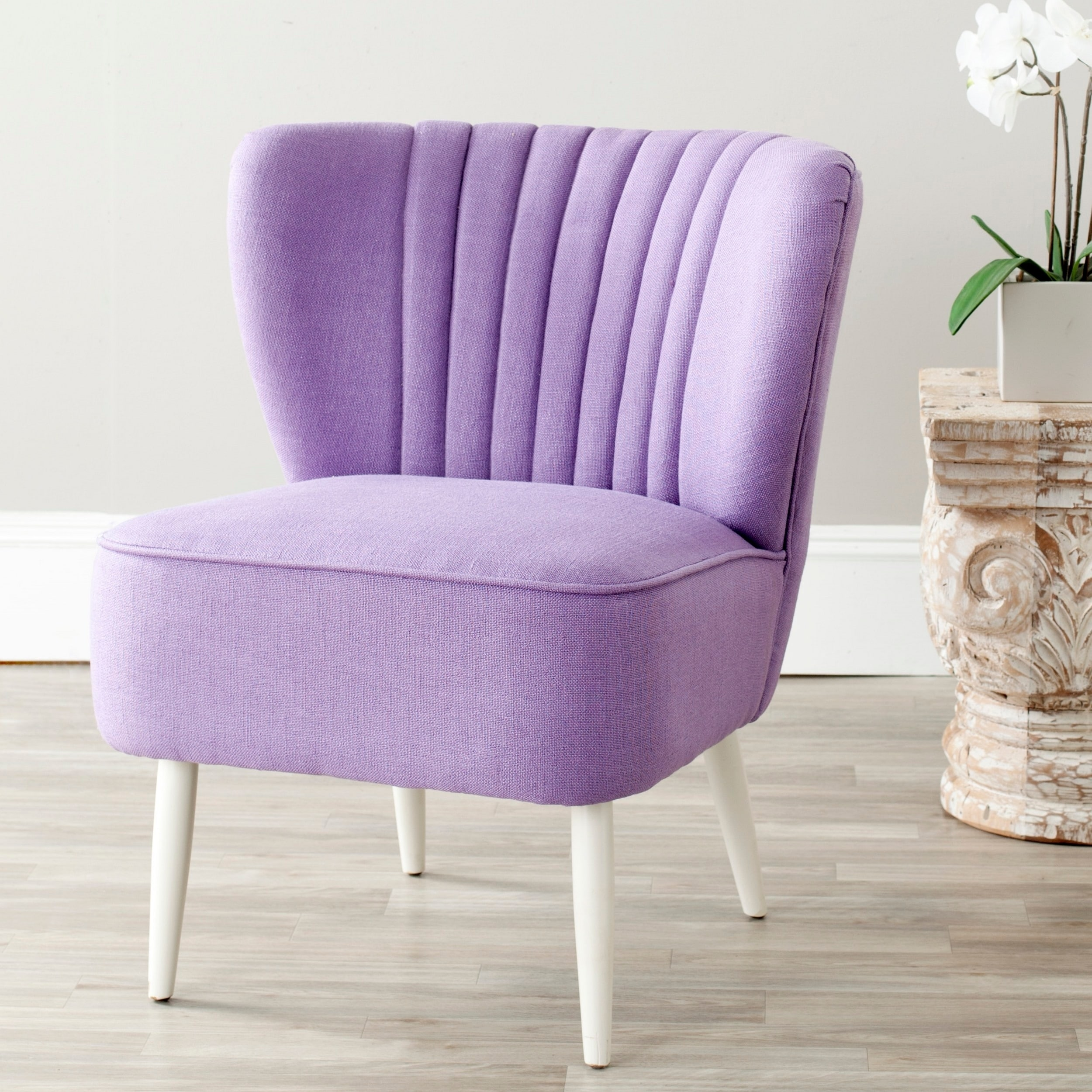 Picture of: Safavieh Mid Century Purple Accent Chair 24 4 X 28 3 X 29 9 Overstock 6387522