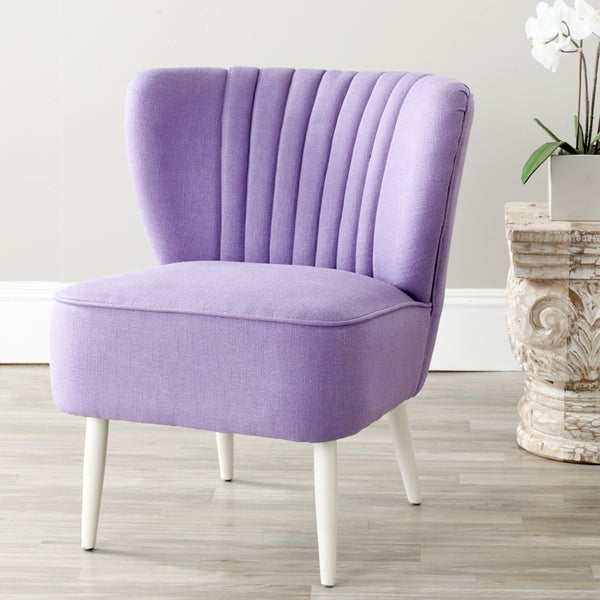 Safavieh Mid-Century Purple Accent Chair