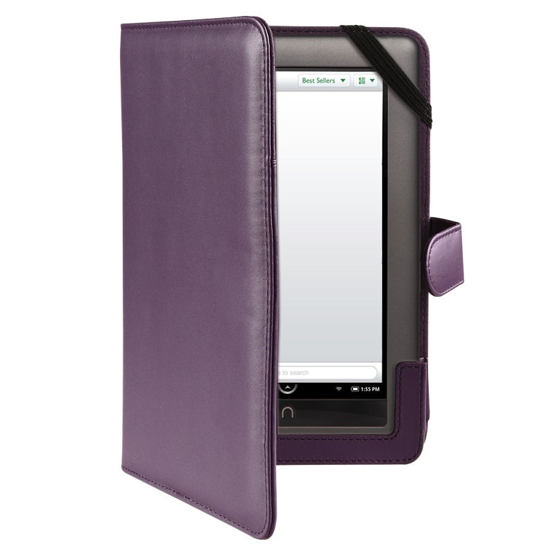 INSTEN Purple Leather Phone Case Cover for Barnes & Noble Nook/ Nook Color