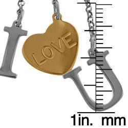 Fremada Gold over Silver Love Lariat Adjustable Necklace