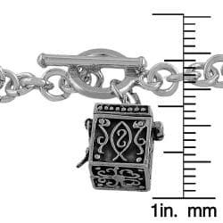 Fremada Sterling Silver Treasure Box Charm Toggle Bracelet - Thumbnail 1