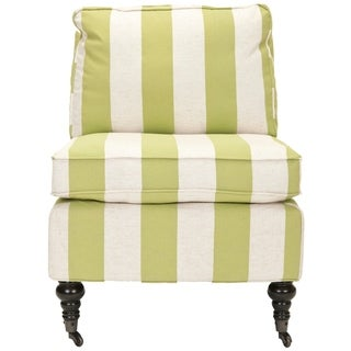 Safavieh Bosio Striped Beige/Green Armless Club Chair