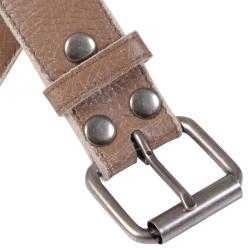Journee Collection Women's Vintage Cracked Genuine Leather 37.25-Inch Belt - Thumbnail 2