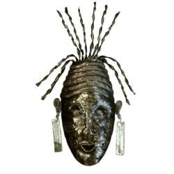 Recycled Oil Drum Haitian Celebration Mask