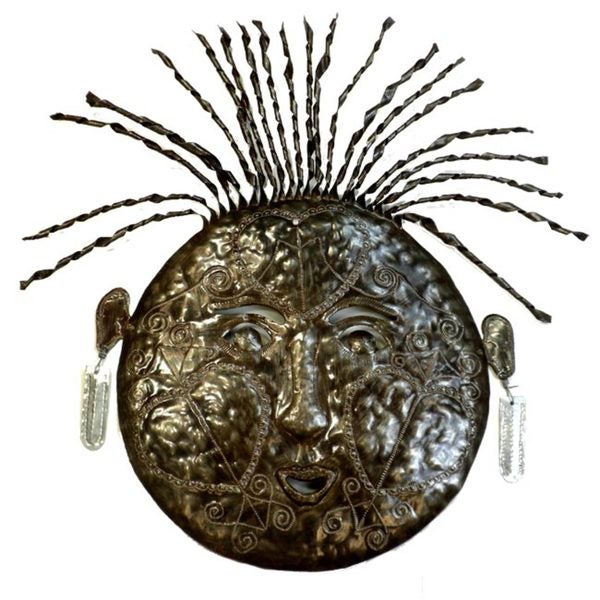 Recycled Oil Drum Haitian Mask of Contentment