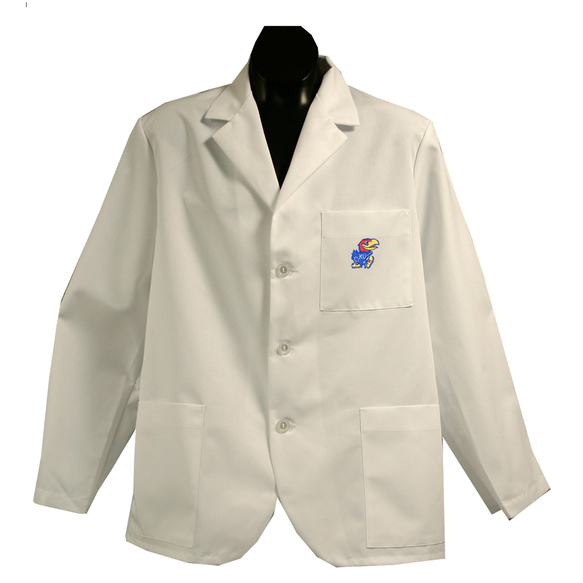 Gelscrubs Unisex NCAA Kansas Jayhawks Short Labcoat