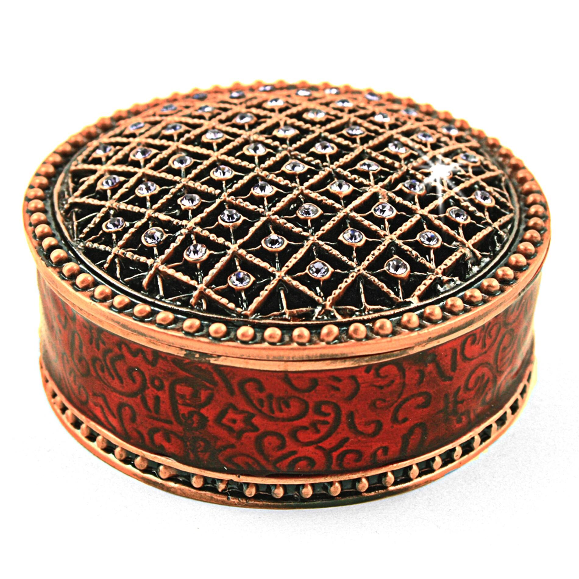 Objet d'art 'Charme' Jeweled Box Trinket Box