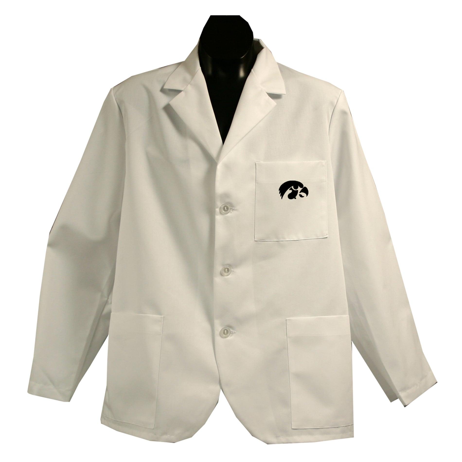 Gelscrubs Unisex NCAA Iowa Hawkeyes Short Labcoat