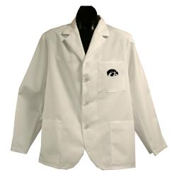 Gelscrubs Unisex NCAA Iowa Hawkeyes Short Labcoat