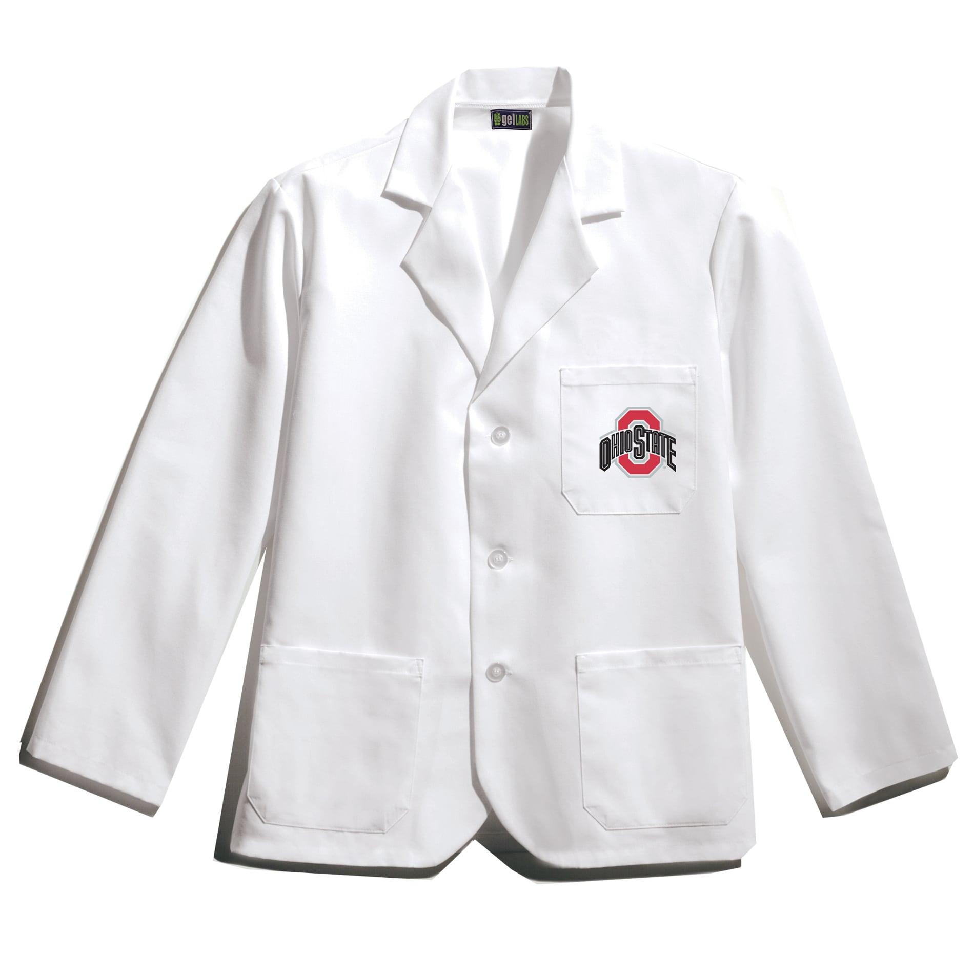 Gelscrubs Unisex NCAA Ohio State Buckeyes Short Labcoat