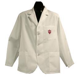 Gelscrubs Unisex NCAA Indiana Hoosiers Short Labcoat